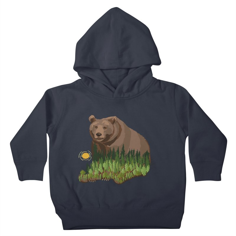 Woods in a Bear Kids Toddler Pullover Hoody by BullShirtCo