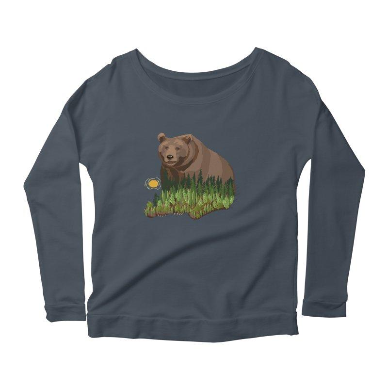 Woods in a Bear Women's Scoop Neck Longsleeve T-Shirt by BullShirtCo