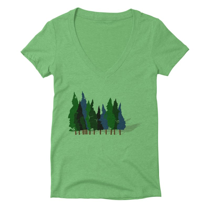 Find it in the Woods Women's Deep V-Neck V-Neck by BullShirtCo