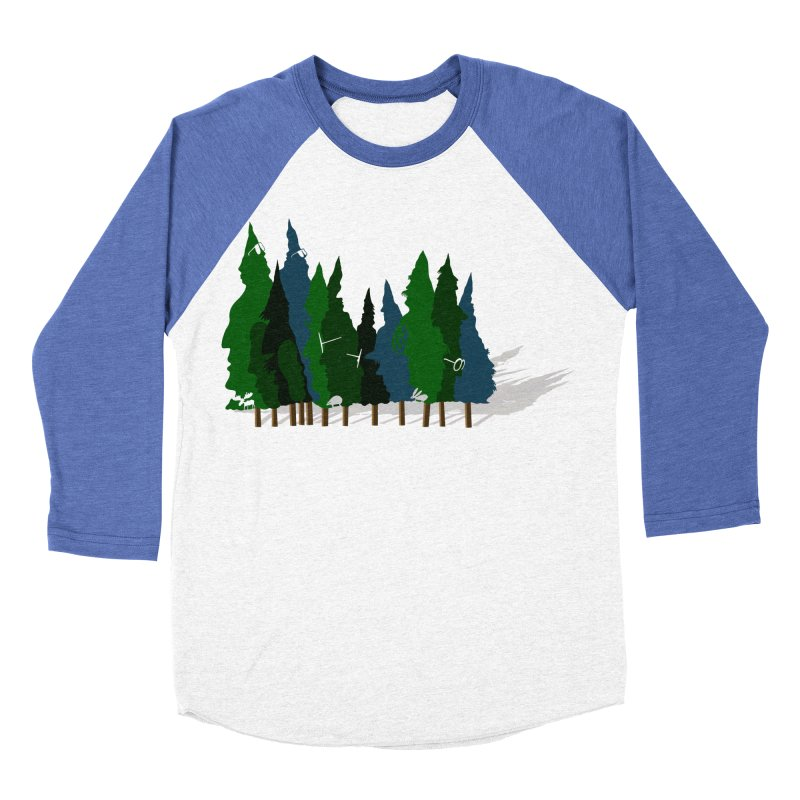 Find it in the Woods Men's Baseball Triblend Longsleeve T-Shirt by BullShirtCo
