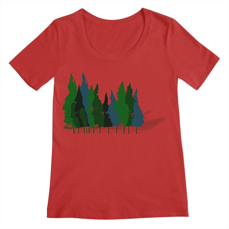 Find it in the Woods Women's Regular Scoop Neck by BullShirtCo