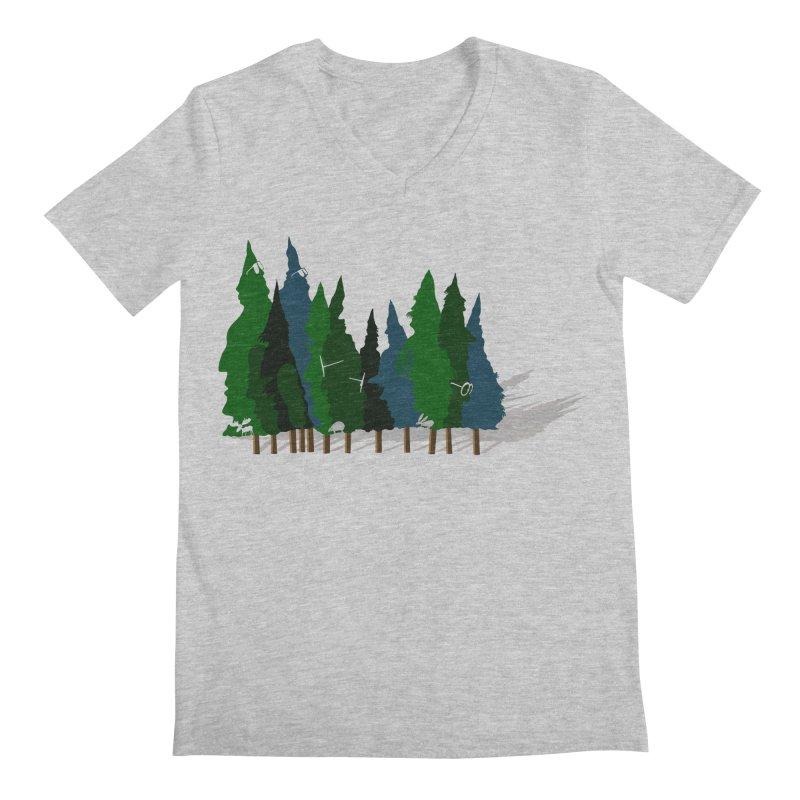 Find it in the Woods Men's Regular V-Neck by BullShirtCo
