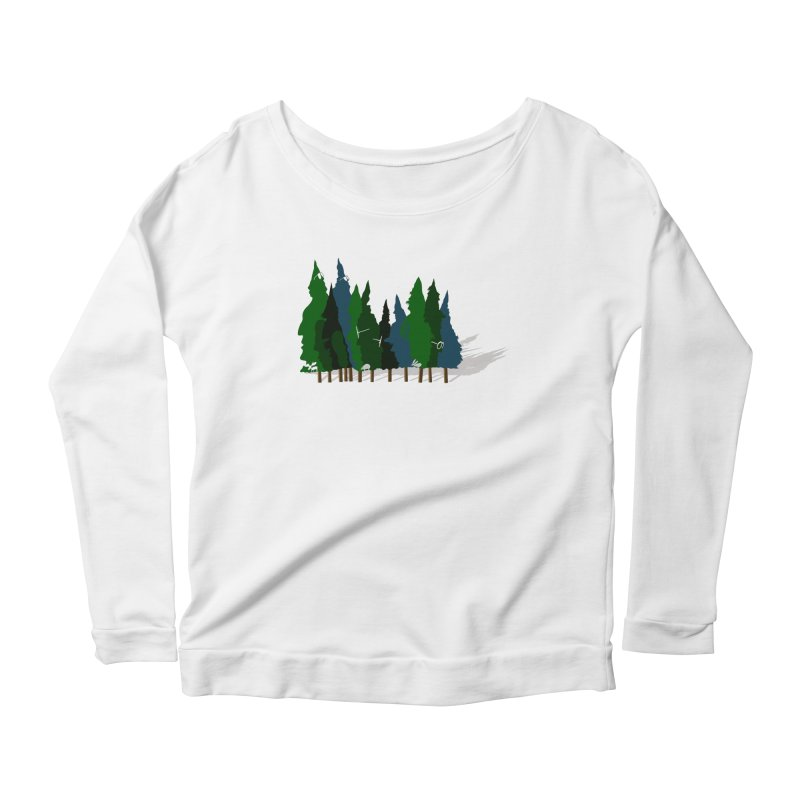 Find it in the Woods Women's Scoop Neck Longsleeve T-Shirt by BullShirtCo