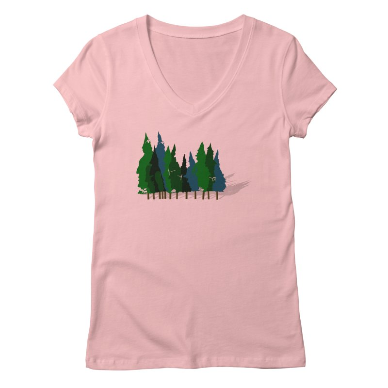 Find it in the Woods Women's Regular V-Neck by BullShirtCo