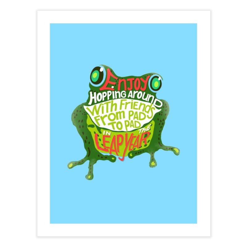 Enjoy Hopping Around! Home Fine Art Print by BullShirtCo