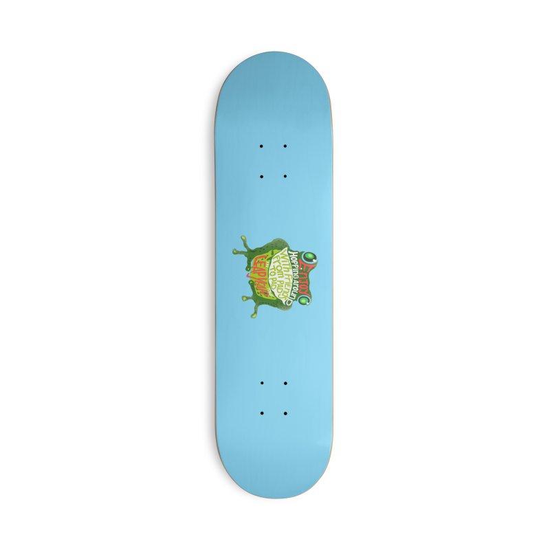 Enjoy Hopping Around! Accessories Deck Only Skateboard by BullShirtCo