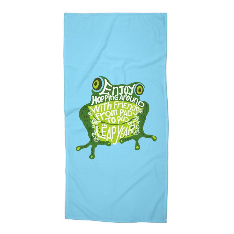 Leaping from Pad to Pad Accessories Beach Towel by BullShirtCo