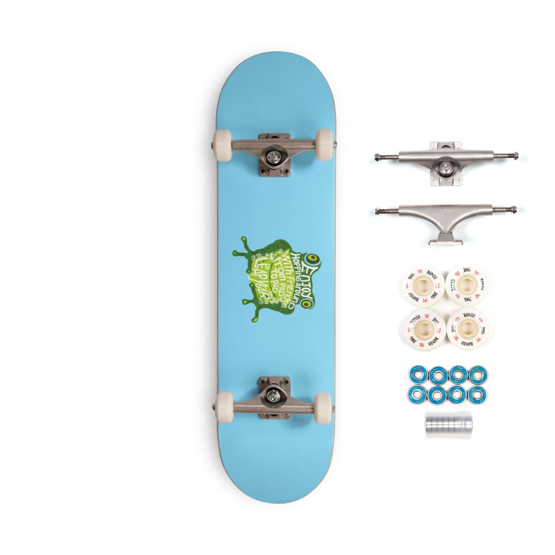 Leaping from Pad to Pad Accessories Complete - Premium Skateboard by BullShirtCo