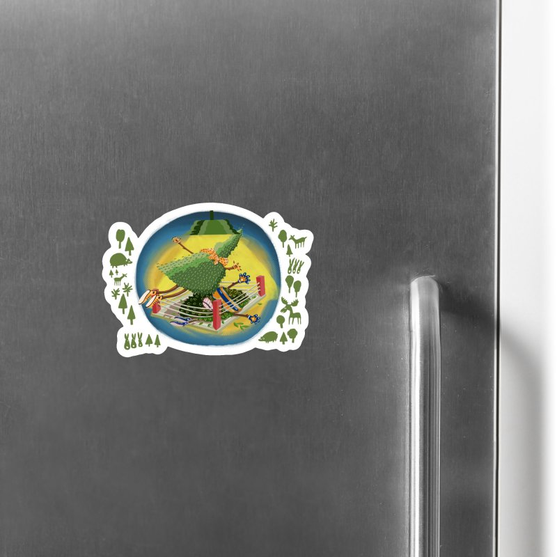 A Tree Falls in the Forest Accessories Magnet by BullShirtCo