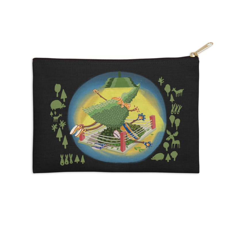 A Tree Falls in the Forest Accessories Zip Pouch by BullShirtCo