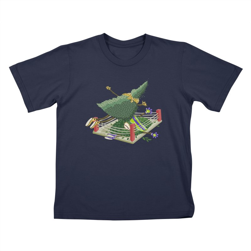 A Tree Falls in the Forest Kids T-Shirt by BullShirtCo