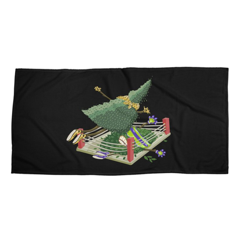 A Tree Falls in the Forest Accessories Beach Towel by BullShirtCo