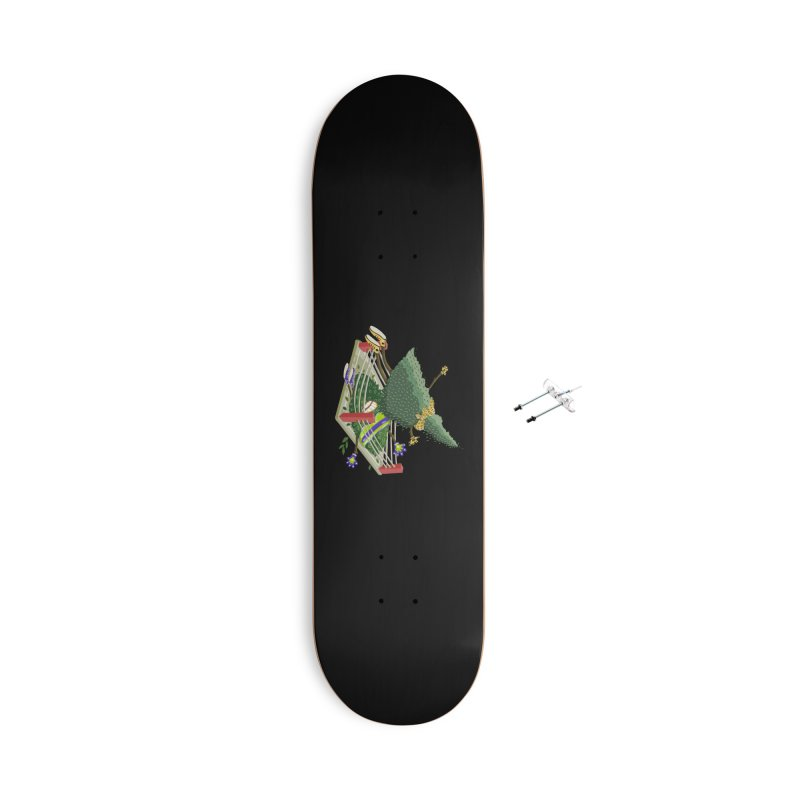A Tree Falls in the Forest Accessories Skateboard by BullShirtCo
