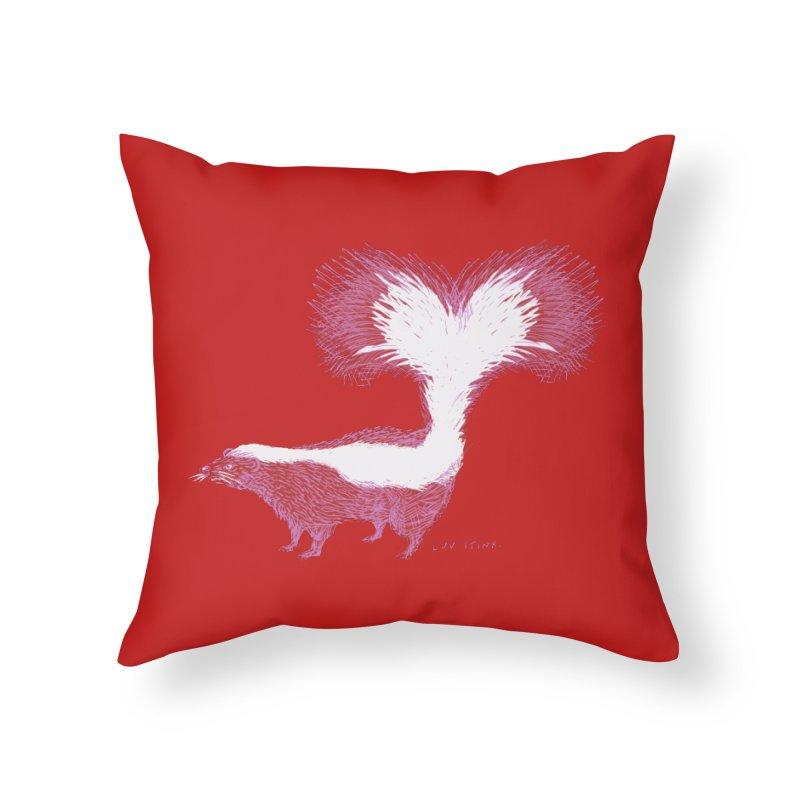 Luv Stinx Home Throw Pillow by BullShirtCo
