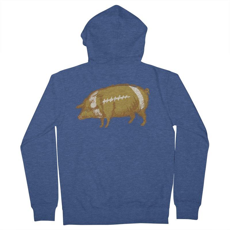 Pig Skin Men's Zip-Up Hoody by BullShirtCo