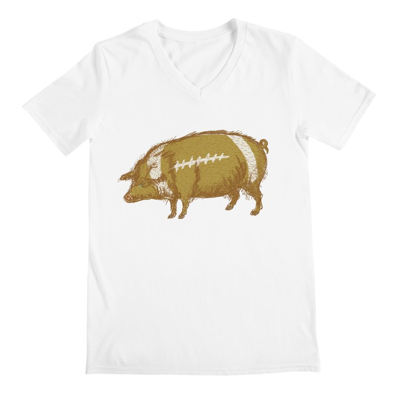 Pig Skin Men's V-Neck by BullShirtCo