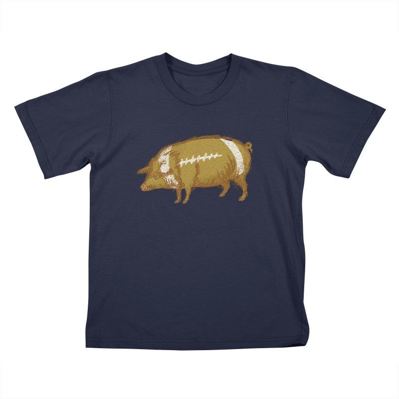 Pig Skin Kids T-Shirt by BullShirtCo