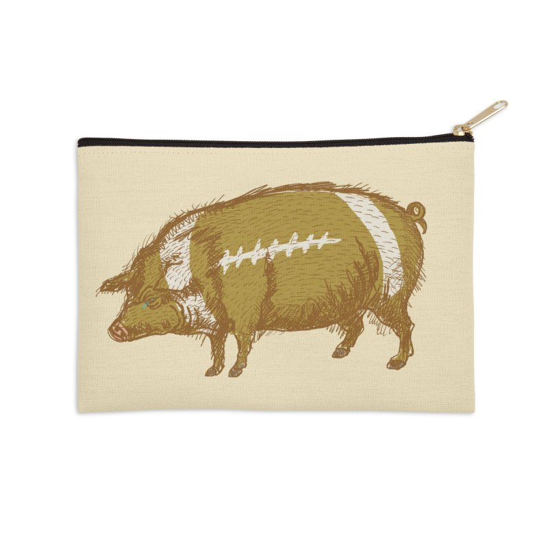 Pig Skin Accessories Zip Pouch by BullShirtCo