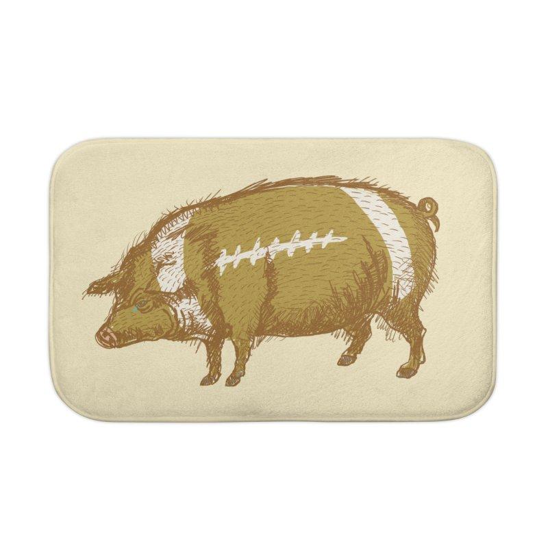 Pig Skin Home Bath Mat by BullShirtCo