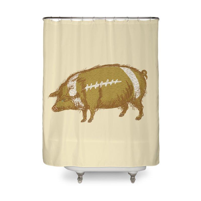Pig Skin Home Shower Curtain by BullShirtCo