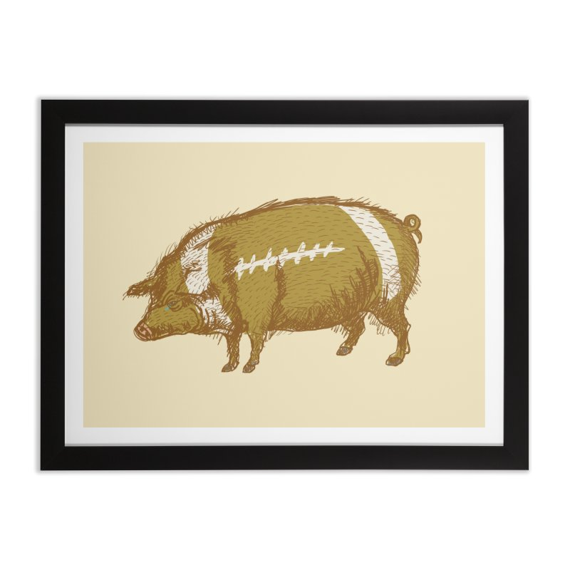Pig Skin Home Framed Fine Art Print by BullShirtCo