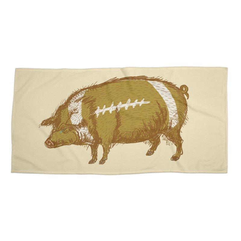Pig Skin Accessories Beach Towel by BullShirtCo