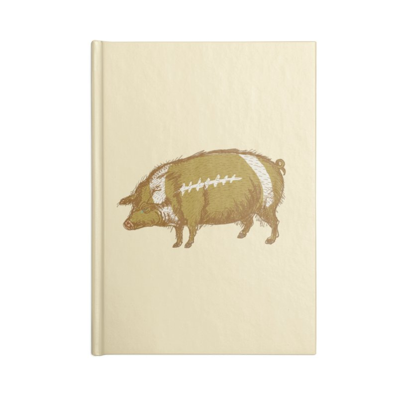 Pig Skin Accessories Blank Journal Notebook by BullShirtCo