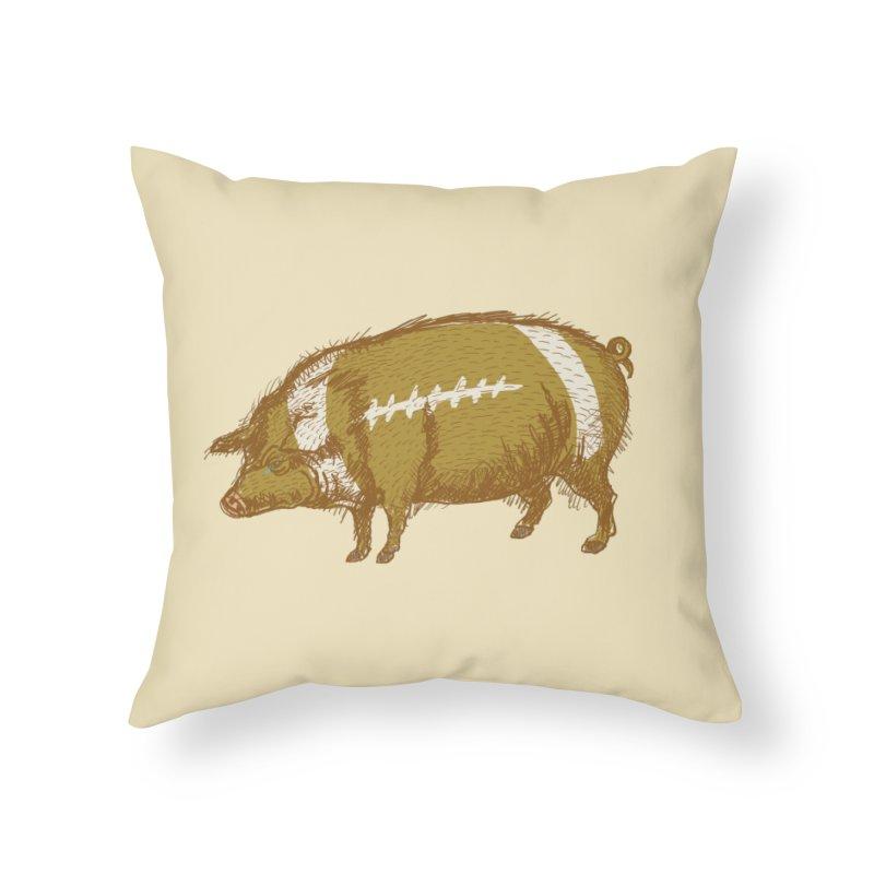 Pig Skin Home Throw Pillow by BullShirtCo