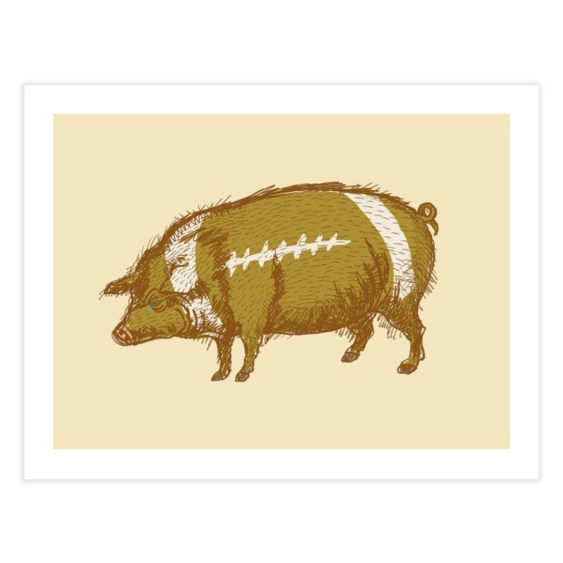 Pig Skin Home Fine Art Print by BullShirtCo