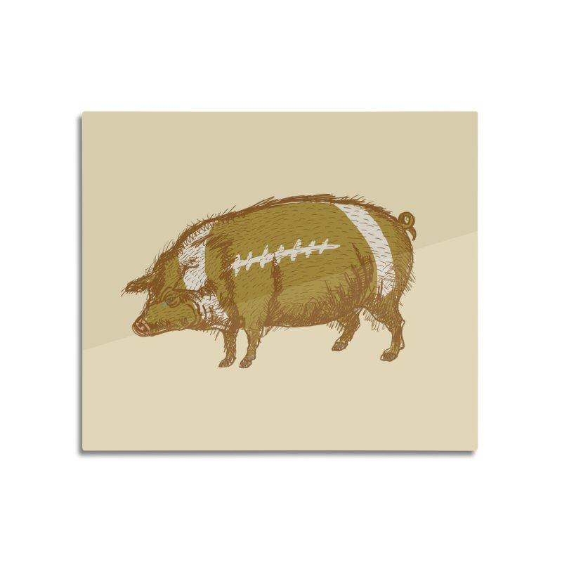 Pig Skin Home Mounted Aluminum Print by BullShirtCo