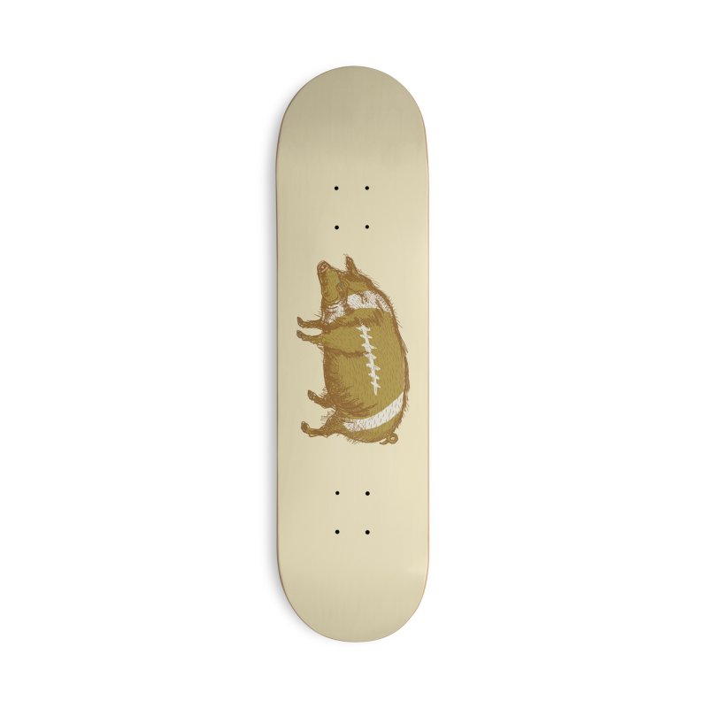 Pig Skin Accessories Skateboard by BullShirtCo