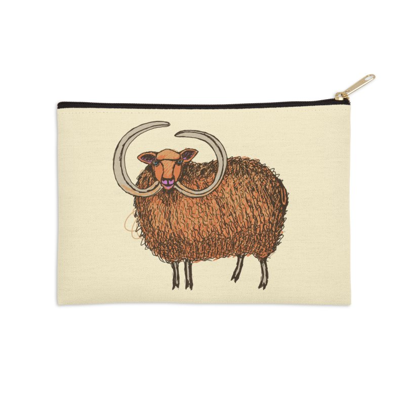 Wooly Mammoth Accessories Zip Pouch by BullShirtCo