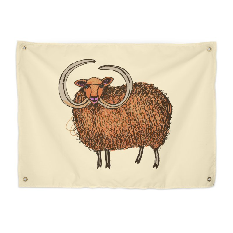 Wooly Mammoth Home Tapestry by BullShirtCo