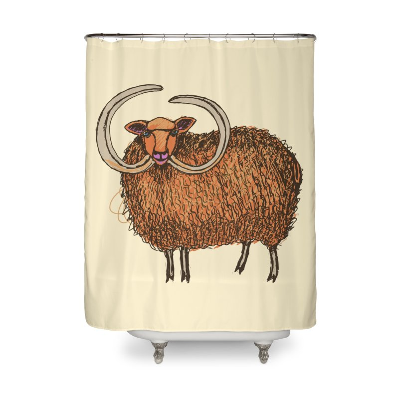 Wooly Mammoth Home Shower Curtain by BullShirtCo