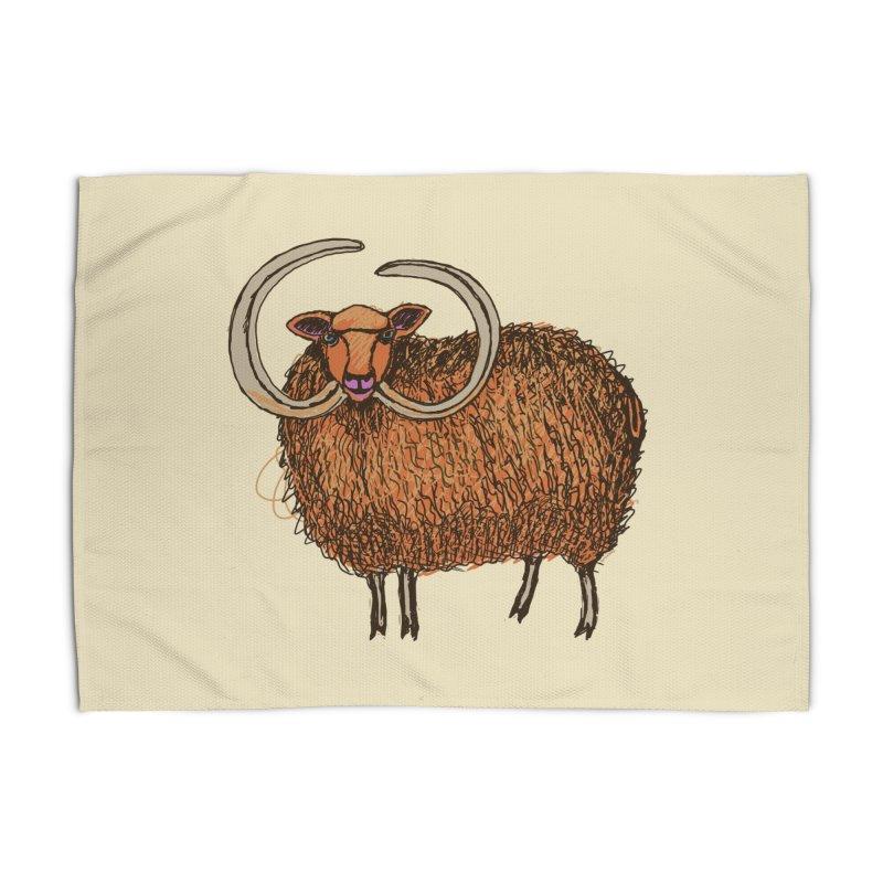 Wooly Mammoth Home Rug by BullShirtCo