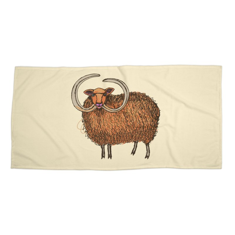 Wooly Mammoth Accessories Beach Towel by BullShirtCo