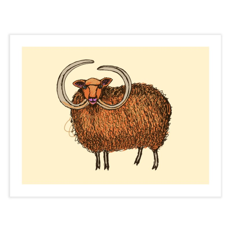 Wooly Mammoth Home Fine Art Print by BullShirtCo