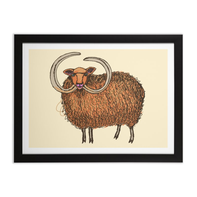 Wooly Mammoth Home Framed Fine Art Print by BullShirtCo