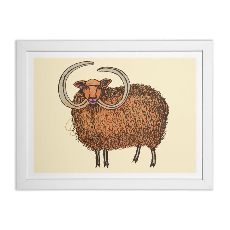 Wooly Mammoth Home Framed Fine Art Print by BullShirtCo