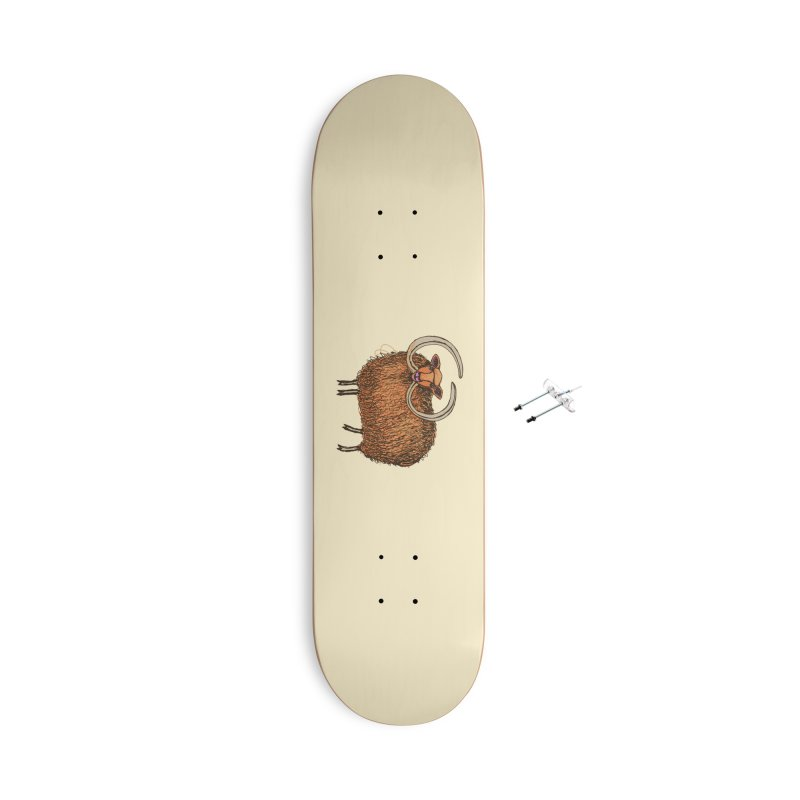 Wooly Mammoth Accessories With Hanging Hardware Skateboard by BullShirtCo