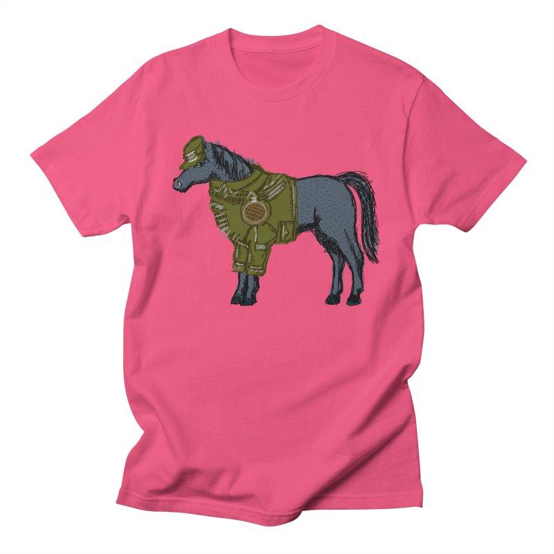 War Horse in Men's Regular T-Shirt Fuchsia by BullShirtCo