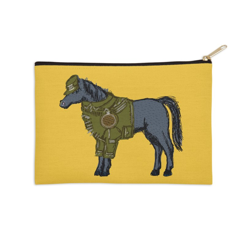 War Horse Accessories Zip Pouch by BullShirtCo