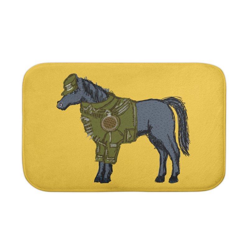 War Horse Home Bath Mat by BullShirtCo