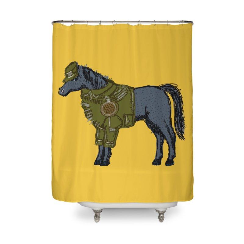 War Horse Home Shower Curtain by BullShirtCo