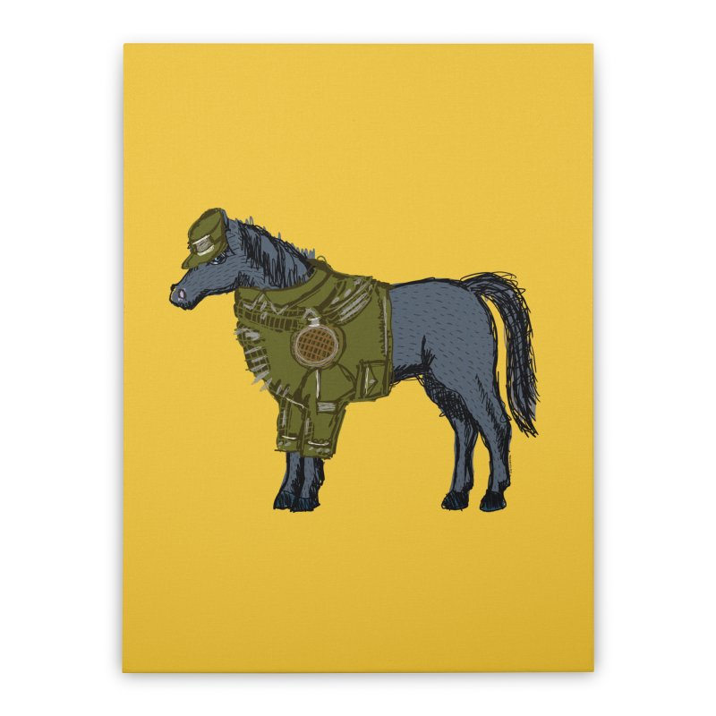 War Horse Home Stretched Canvas by BullShirtCo