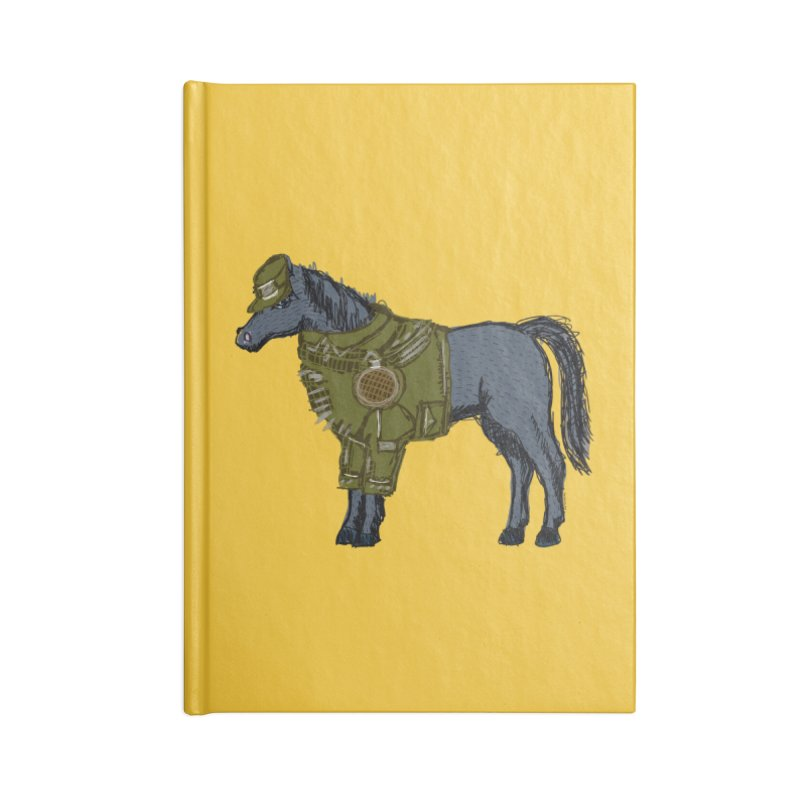 War Horse Accessories Lined Journal Notebook by BullShirtCo