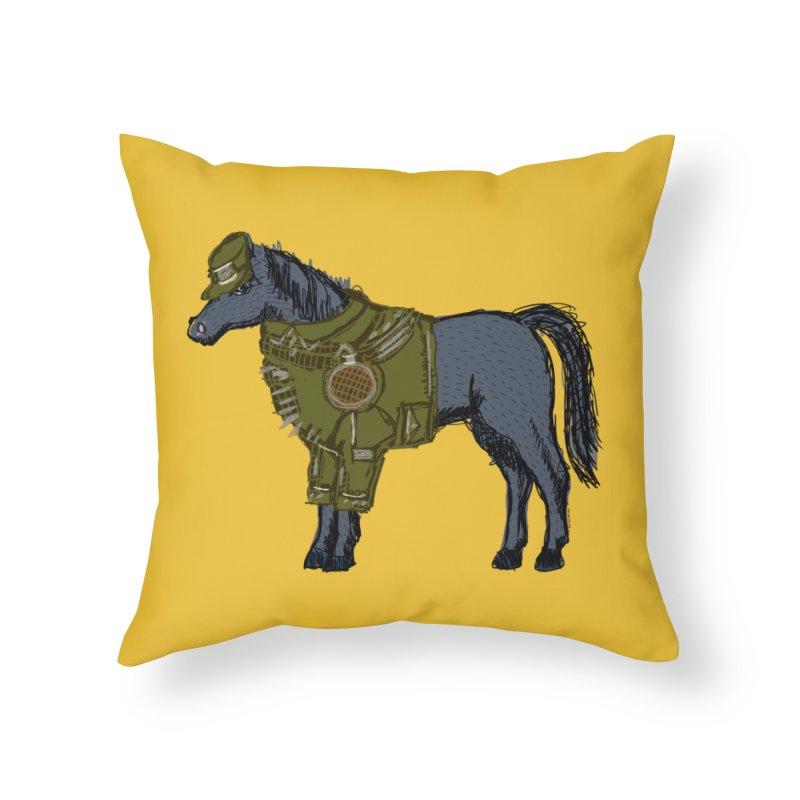 War Horse Home Throw Pillow by BullShirtCo
