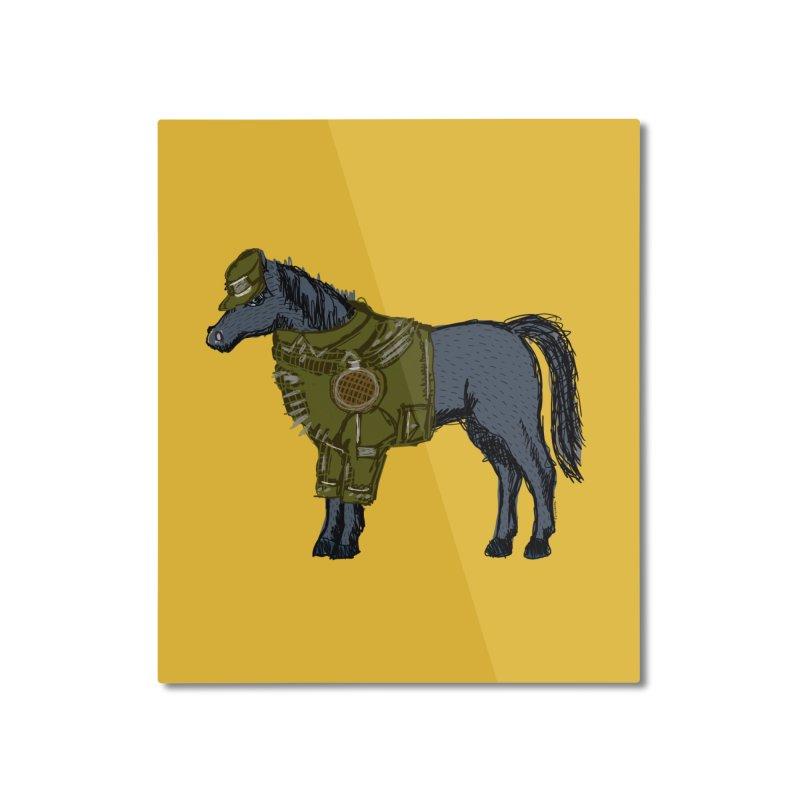 War Horse Home Mounted Aluminum Print by BullShirtCo