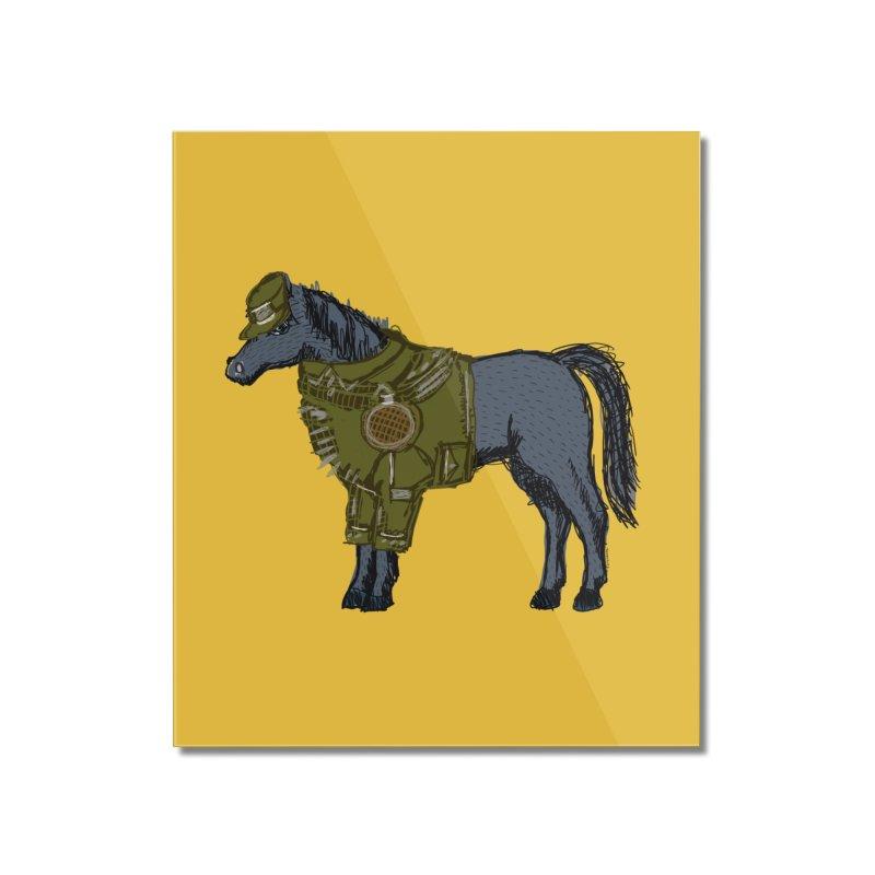 War Horse Home Mounted Acrylic Print by BullShirtCo