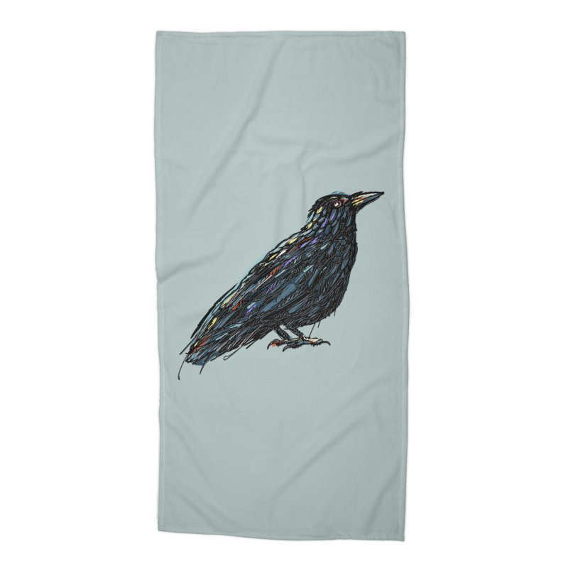 Crow's Feet Accessories Beach Towel by BullShirtCo